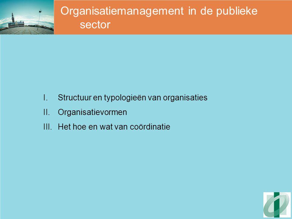 Organisatiestructuur 3 aspecten van structuur (Robbins, 1992):  Complexiteit  Formalisatiegraad  Centralisatiegraad