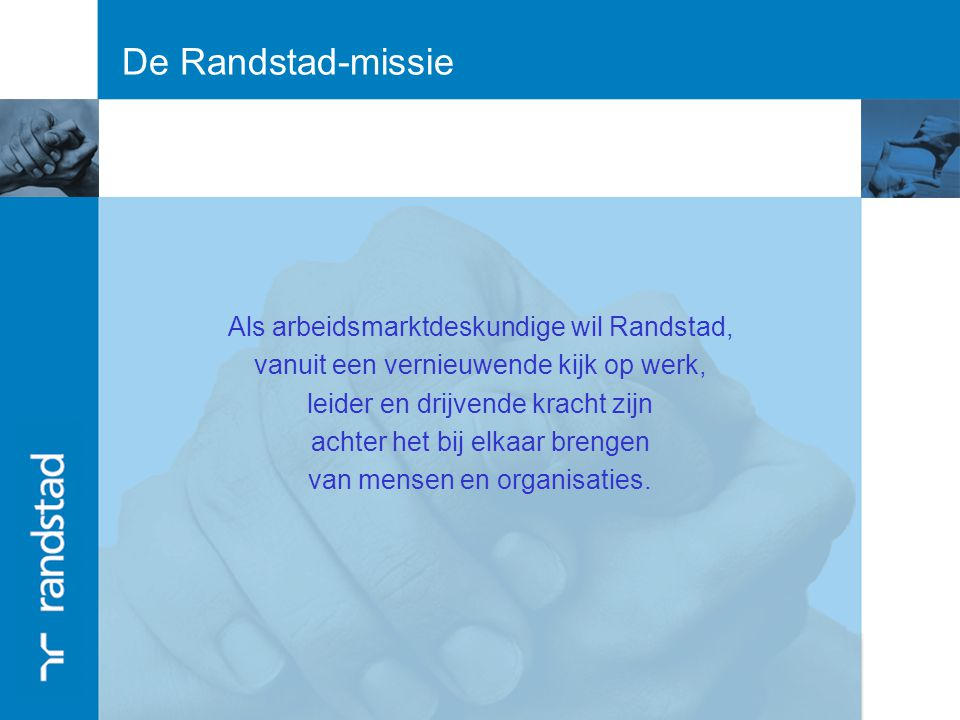 Randstad Partner in Human Resources Randstad Partner in Human Resources