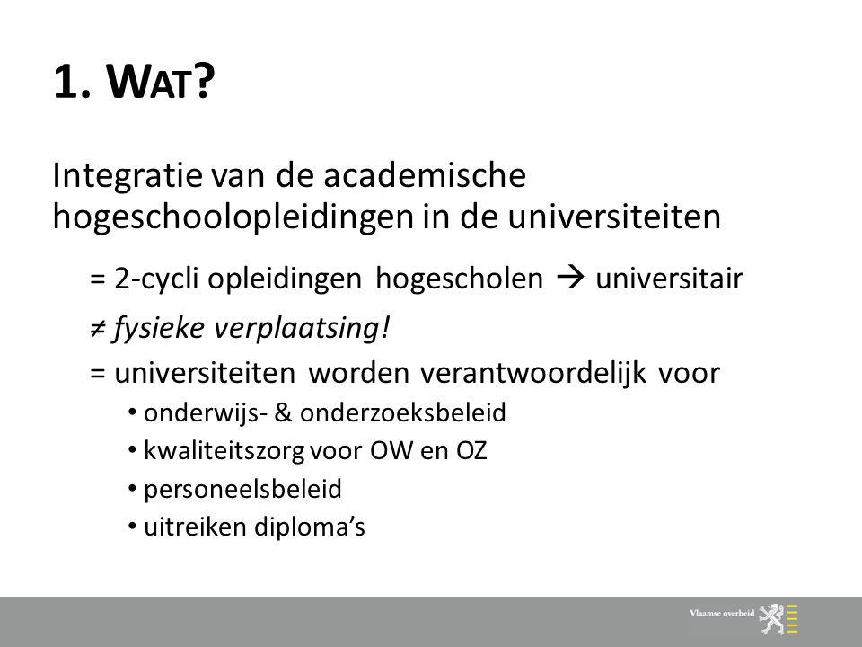 2.S ITUERING vroegere onderscheid : academisch vs.