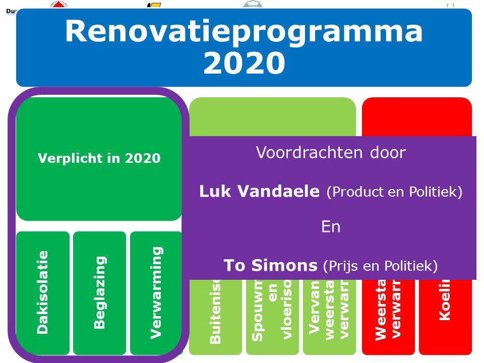 Voordrachten door Luk Vandaele (Product en Politiek) En To Simons (Prijs en Politiek)