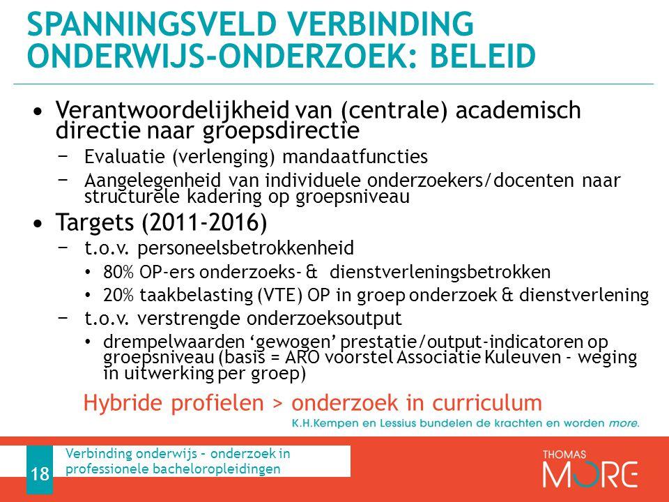 Verantwoordelijkheid van (centrale) academisch directie naar groepsdirectie − Evaluatie (verlenging) mandaatfuncties − Aangelegenheid van individuele