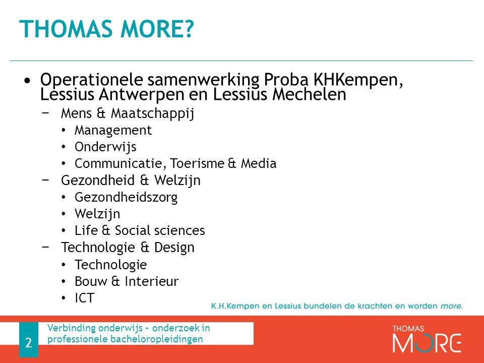 Operationele samenwerking Proba KHKempen, Lessius Antwerpen en Lessius Mechelen − Mens & Maatschappij Management Onderwijs Communicatie, Toerisme & Me