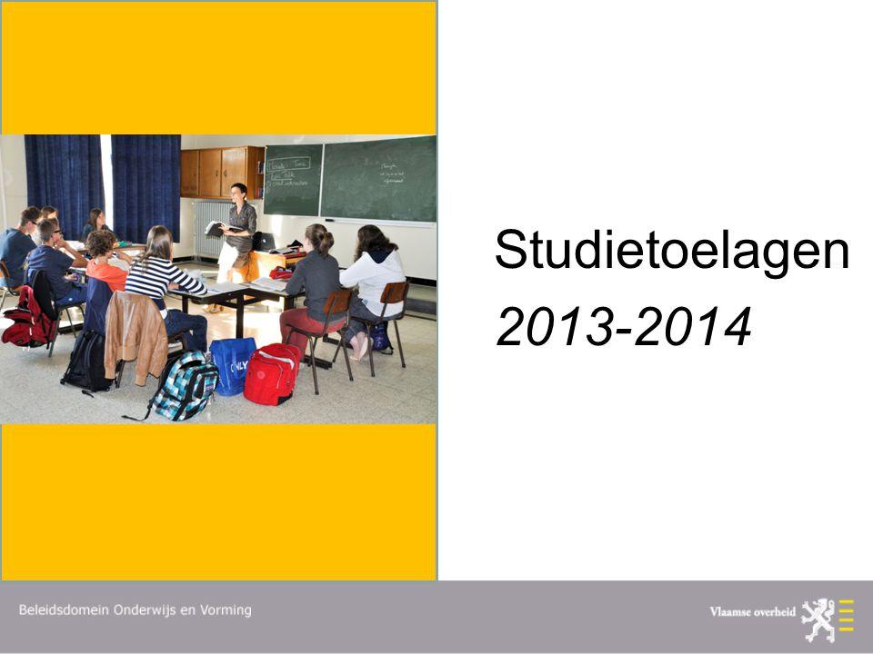 Studietoelagen 2013-2014