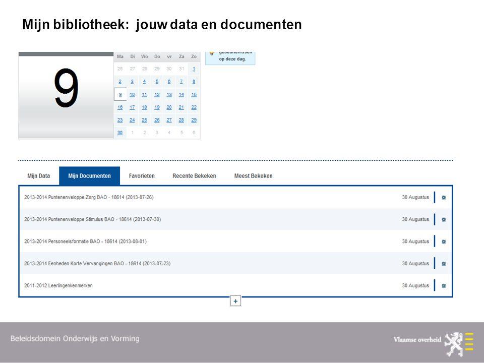 Mijn bibliotheek: jouw data en documenten