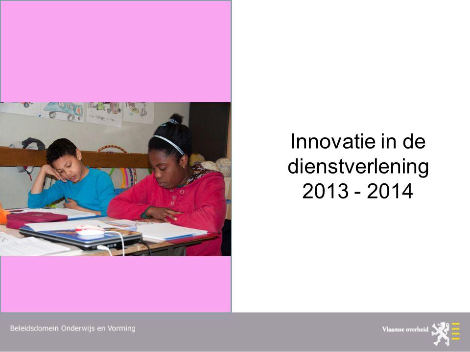 Innovatie in de dienstverlening 2013 - 2014