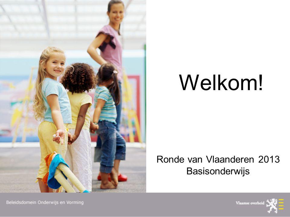 Ronde van Vlaanderen 2013 Basisonderwijs Welkom!