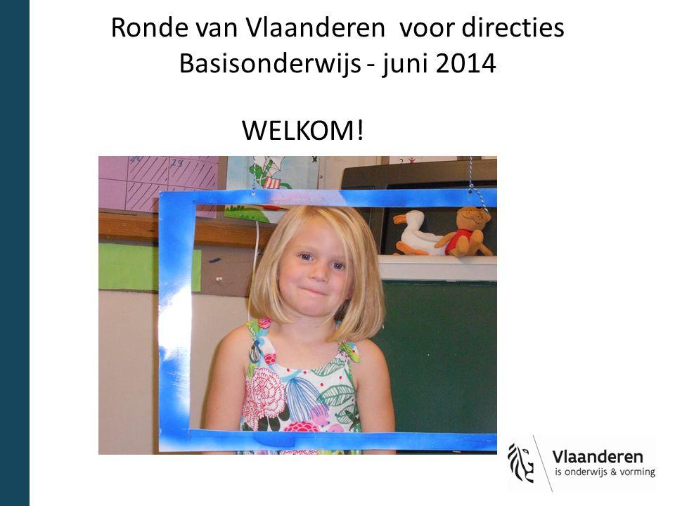 Ronde van Vlaanderen voor directies Basisonderwijs - juni 2014 WELKOM!