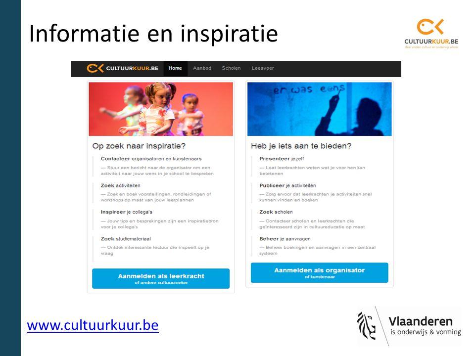 Informatie en inspiratie www.cultuurkuur.be