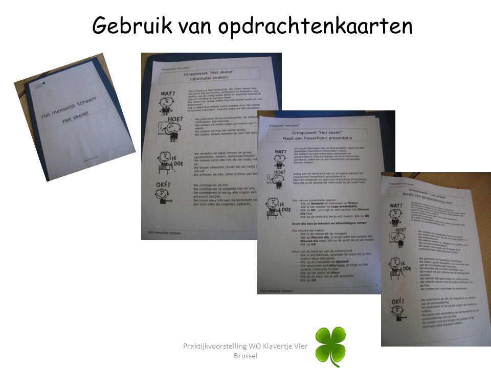 Praktijkvoorstelling WO Klavertje Vier Brussel Gebruik van opdrachtenkaarten