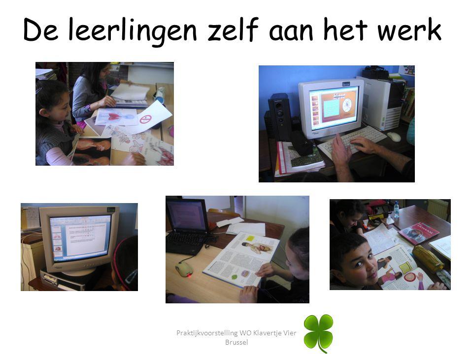 Praktijkvoorstelling WO Klavertje Vier Brussel De leerlingen zelf aan het werk