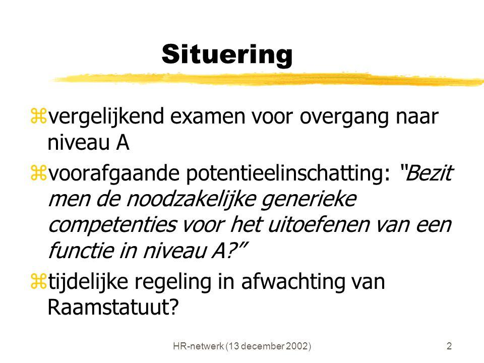 HR-netwerk (13 december 2002)13 Rol interne professional.