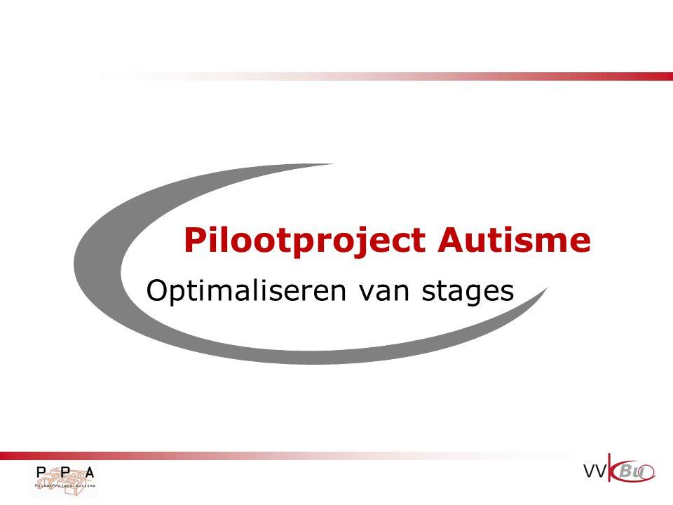 Pilootproject Autisme Optimaliseren van stages