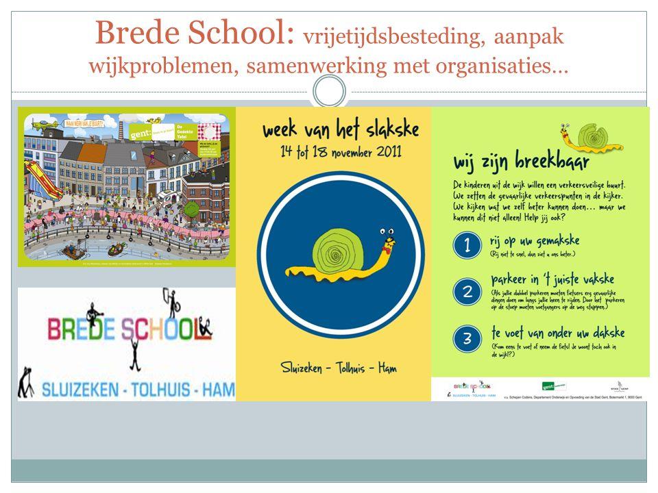 Brede School: vrijetijdsbesteding, aanpak wijkproblemen, samenwerking met organisaties…