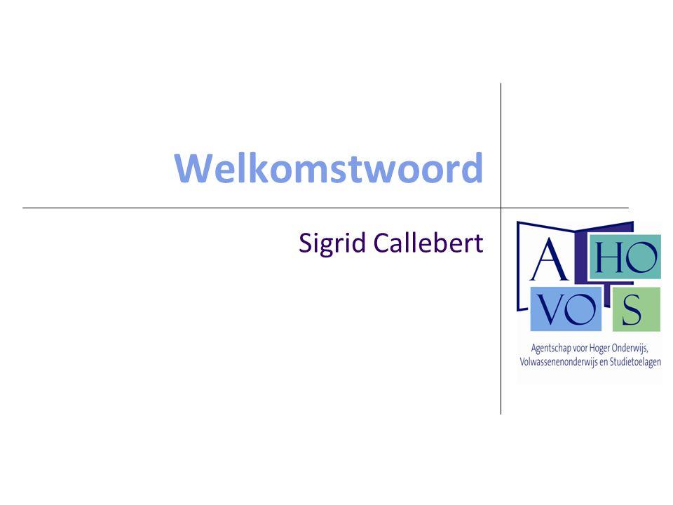 Welkomstwoord Sigrid Callebert