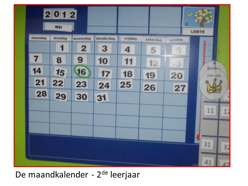De maandkalender - 2 de leerjaar