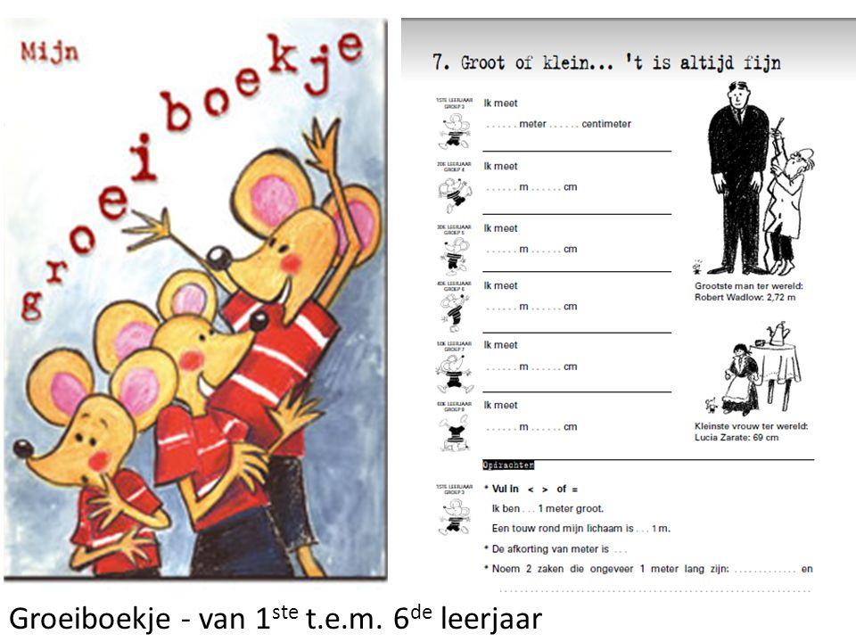 Groeiboekje - van 1 ste t.e.m. 6 de leerjaar