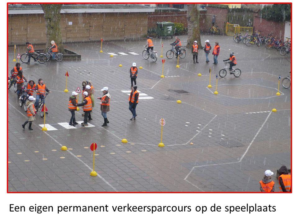 Een eigen permanent verkeersparcours op de speelplaats