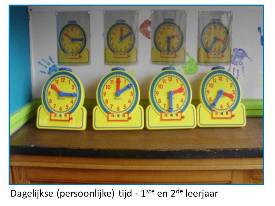 Dagelijkse (persoonlijke) tijd - 1 ste en 2 de leerjaar