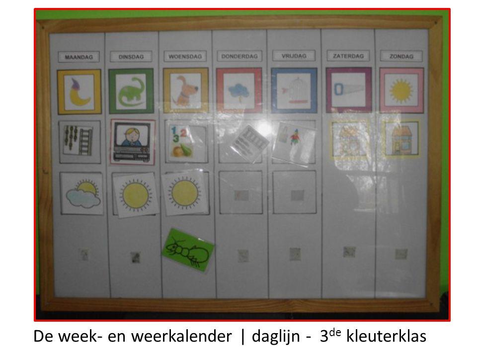 De week- en weerkalender | daglijn - 3 de kleuterklas