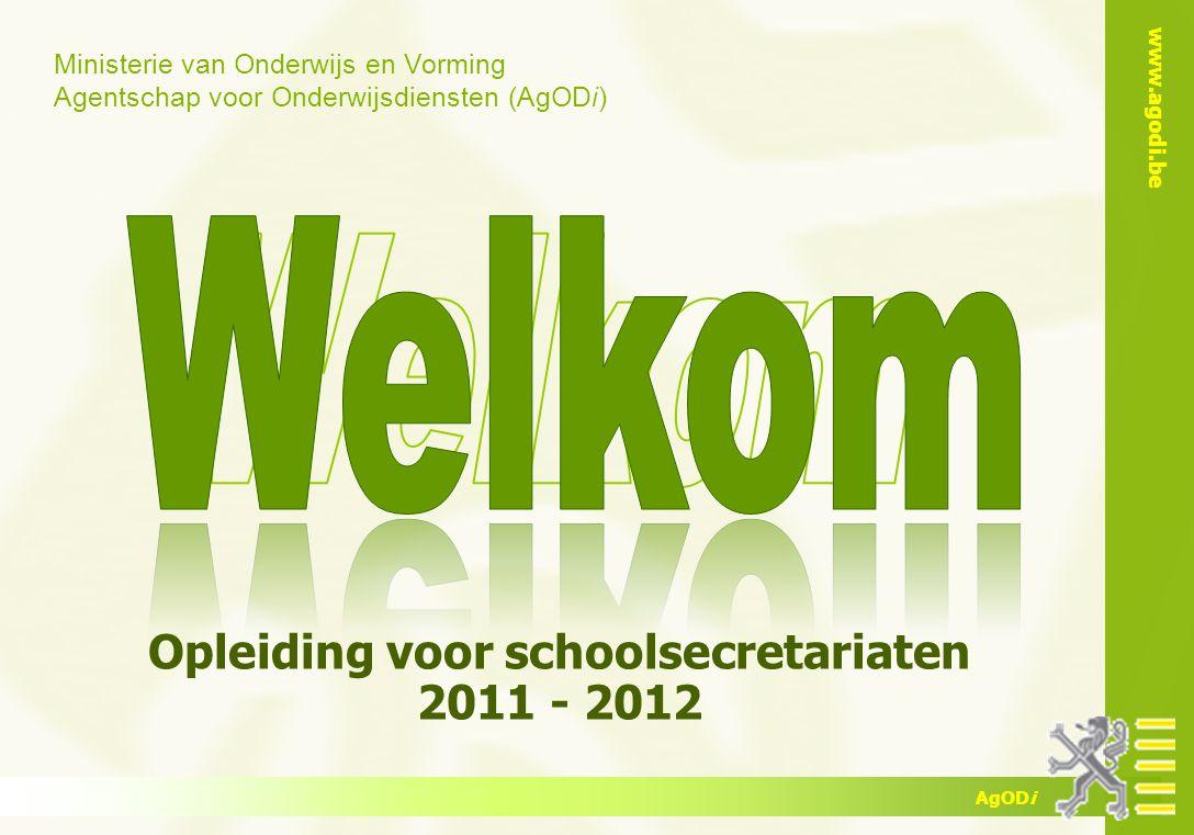 www.agodi.be AgODi opleiding schoolsecretariaten 2011 - 2012 22 Problematische afwezigheden  Reglementering.