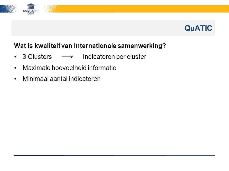 QuATIC Wat is kwaliteit van internationale samenwerking.