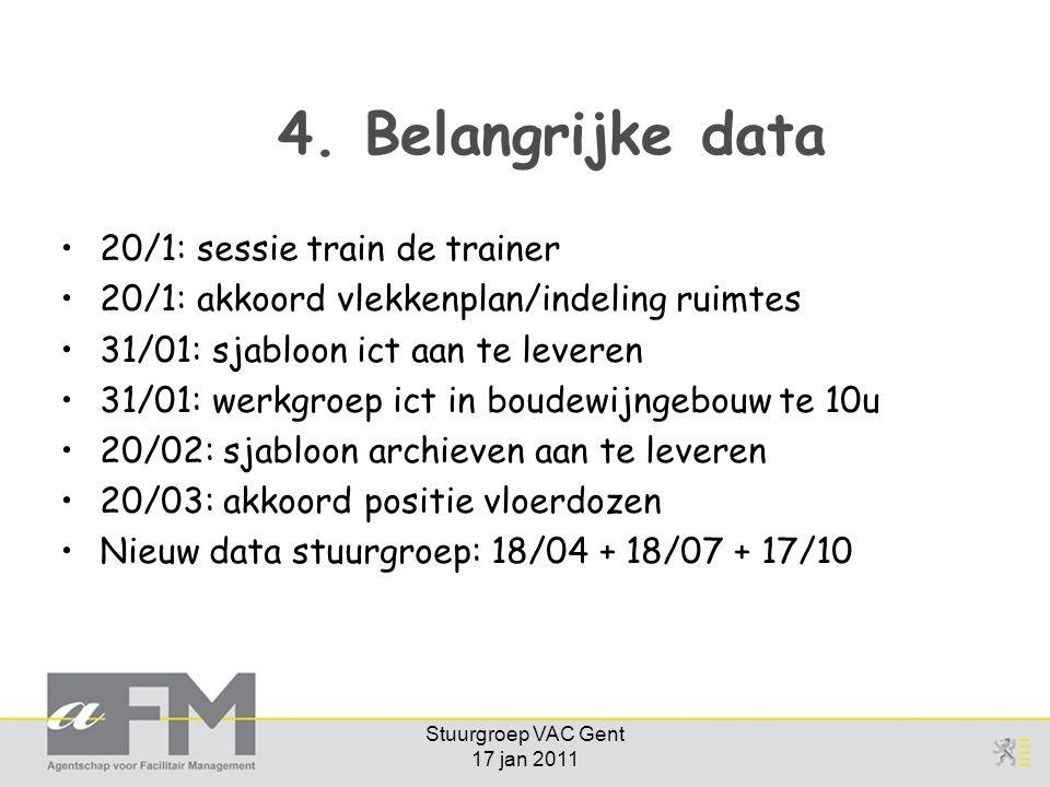 Stuurgroep VAC Gent 17 jan 2011 4.