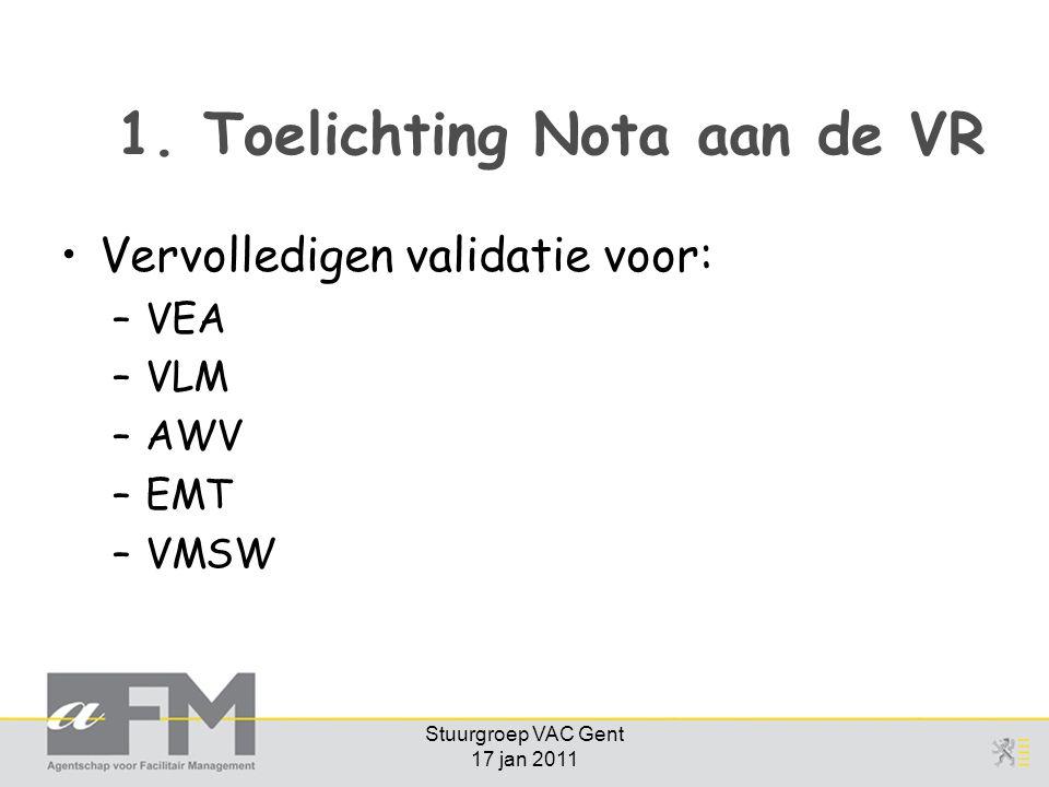 Stuurgroep VAC Gent 17 jan 2011 1.