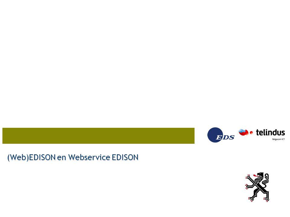 (Web)EDISON en Webservice EDISON