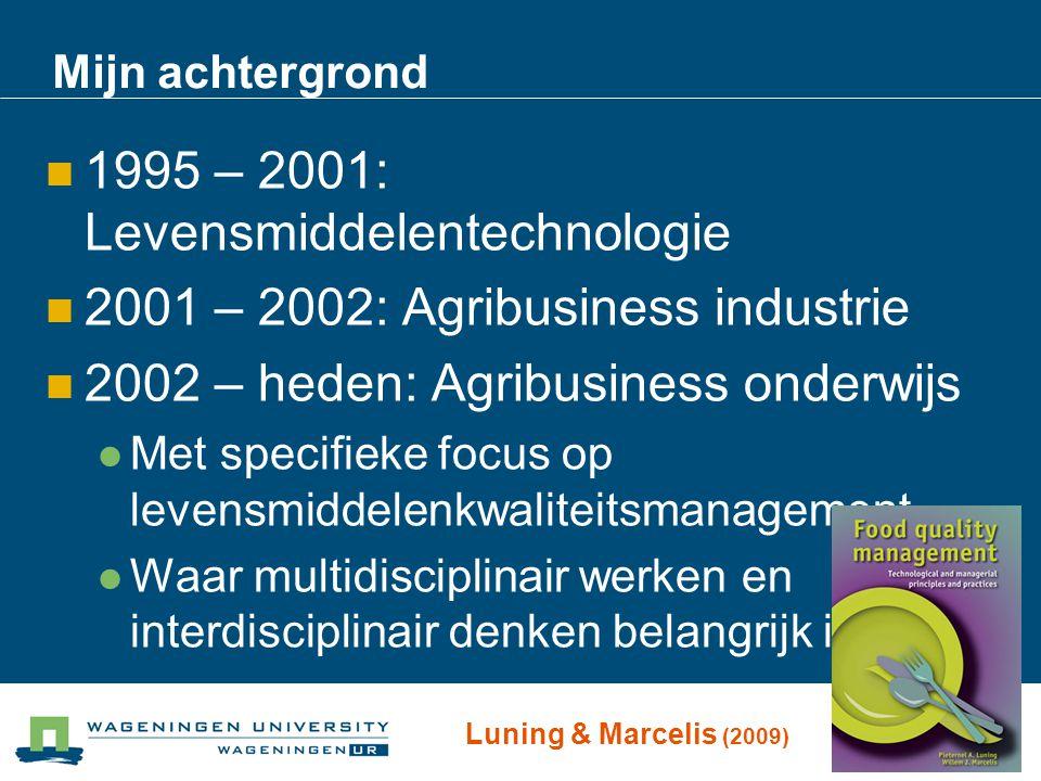 Mijn achtergrond 1995 – 2001: Levensmiddelentechnologie 2001 – 2002: Agribusiness industrie 2002 – heden: Agribusiness onderwijs Met specifieke focus