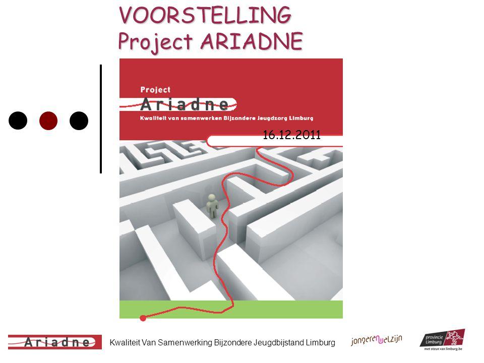 Kwaliteit Van Samenwerking Bijzondere Jeugdbijstand Limburg VOORSTELLING Project ARIADNE 16.12.2011