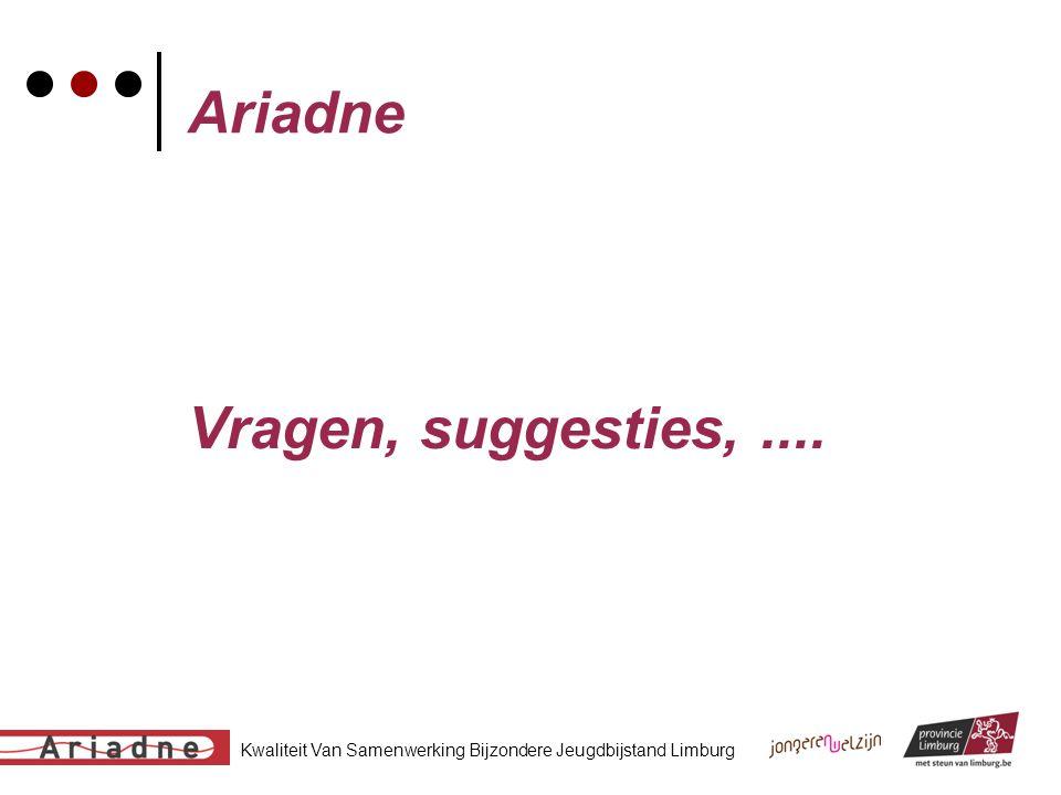 Kwaliteit Van Samenwerking Bijzondere Jeugdbijstand Limburg Ariadne Vragen, suggesties,....