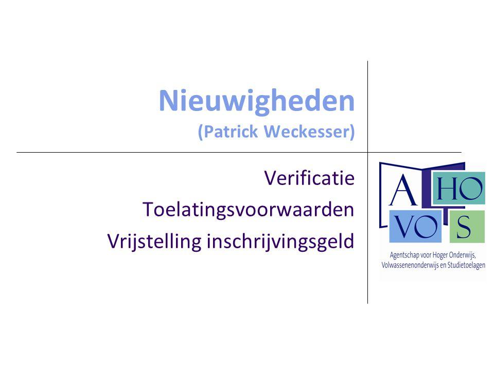 27 augustus 2009Afdeling Volwassenenonderwijs5 Verificatie - drie verificateurs voor CVO's - toewijzing centra aan de verificateurs in infomap en op website volwassenenonderwijs - afsprakenkader geactualiseerd financiering en verificatie