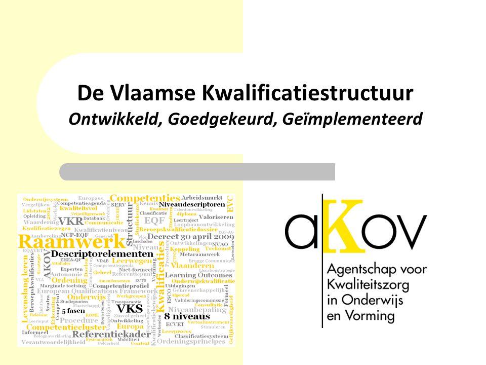 De Vlaamse Kwalificatiestructuur Ontwikkeld, Goedgekeurd, Geïmplementeerd
