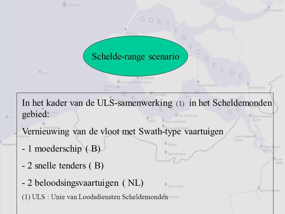 Schelde-range scenario In het kader van de ULS-samenwerking (1) in het Scheldemonden gebied: Vernieuwing van de vloot met Swath-type vaartuigen - 1 mo