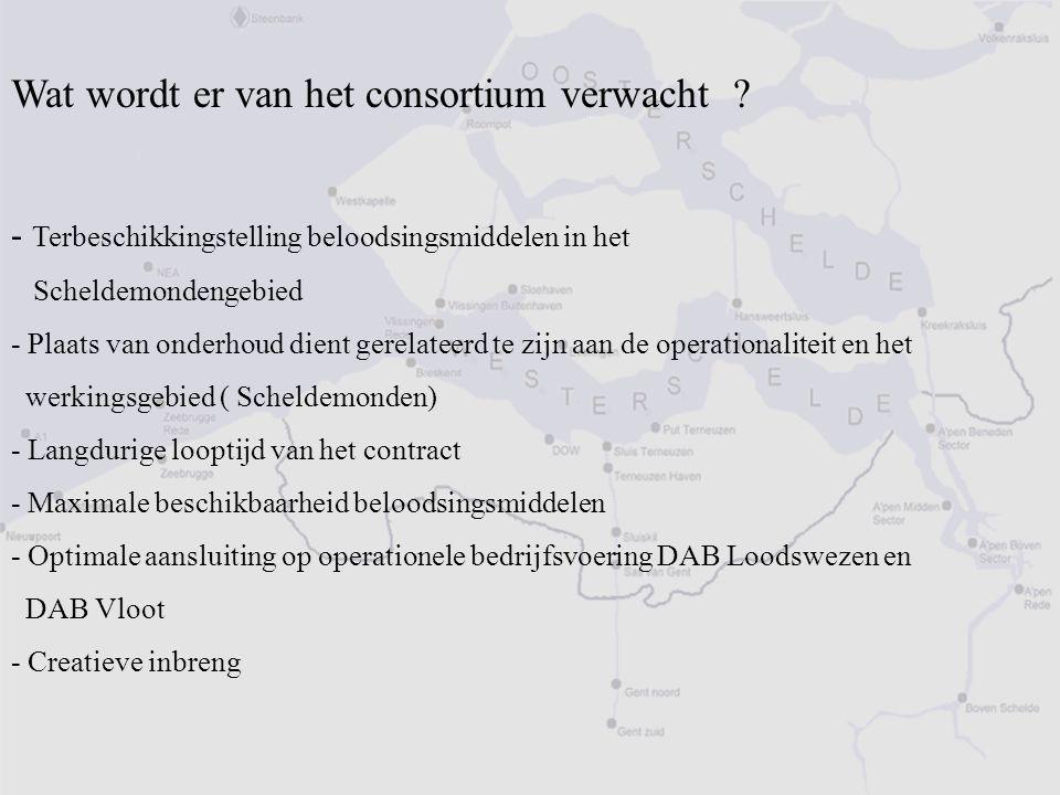 Wat wordt er van het consortium verwacht ? - Terbeschikkingstelling beloodsingsmiddelen in het Scheldemondengebied - Plaats van onderhoud dient gerela