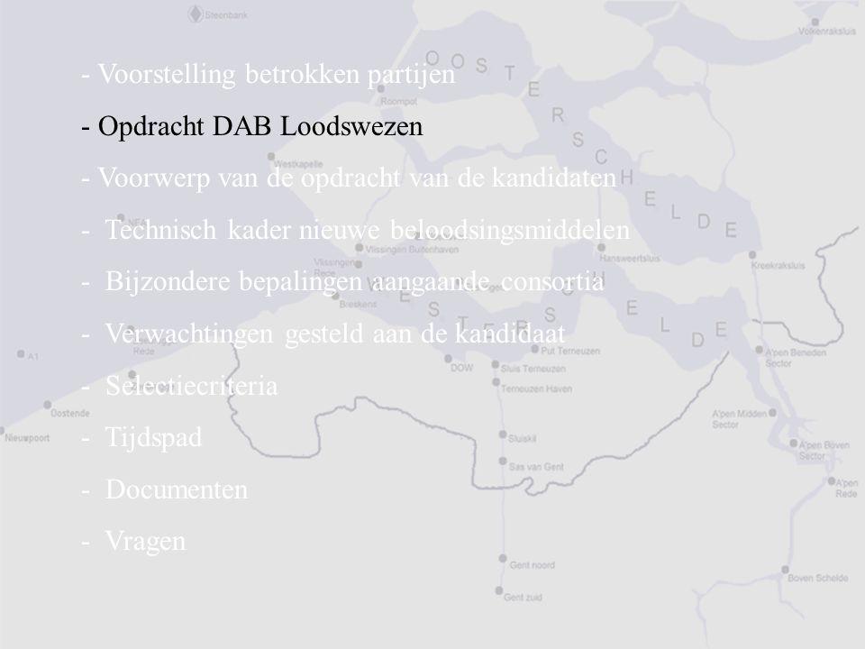 ULS - Unie van Loodsdiensten Scheldemonden (2)  Onderzoek door beide loodswezens naar het meest efficiënte concept voor het beloodsen van schepen op de Westerschelde  Uitgangspunten : Het Westerschelde-estuarium en de daaraan gelegen havens (Kusthavens + Scheldehavens) = één loodsgebied Dienstverlening moet zich uitstrekken tot alle havens / schepen Geen verschil tussen Scheldevaarders en wetschepen Beide loodsdiensten werken als één organisatie