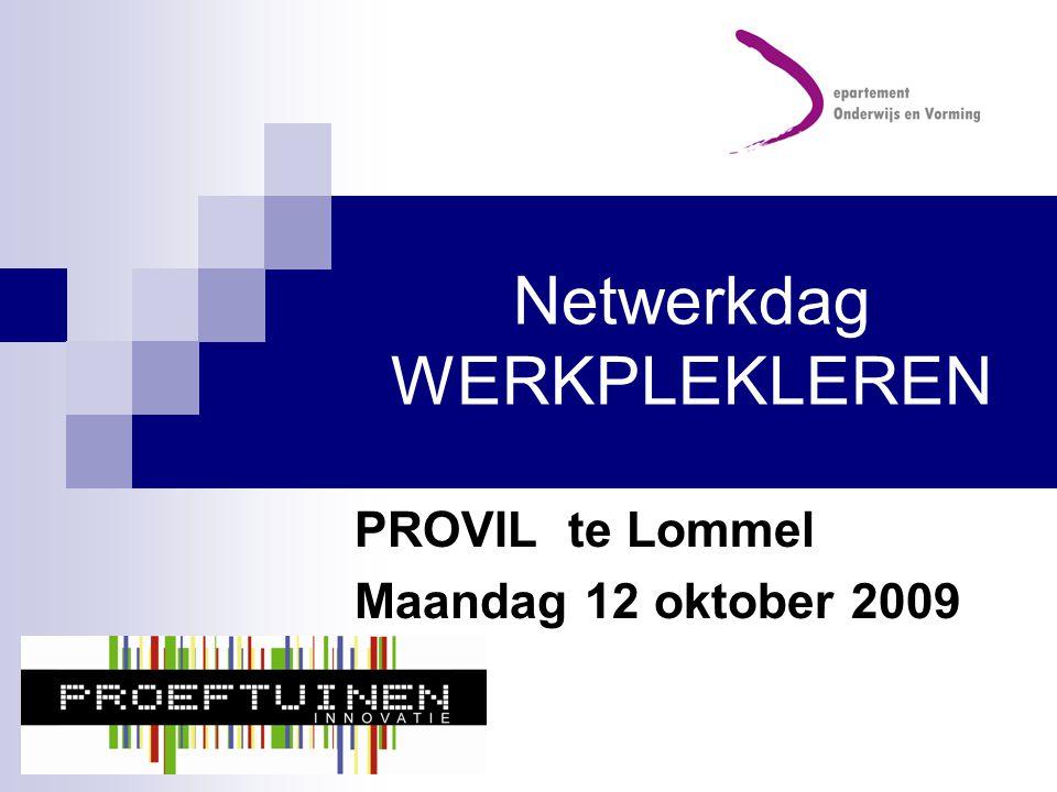 Netwerkdag WERKPLEKLEREN PROVIL te Lommel Maandag 12 oktober 2009
