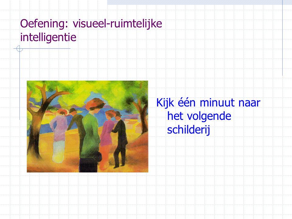 Kijk één minuut naar het volgende schilderij Oefening: visueel-ruimtelijke intelligentie