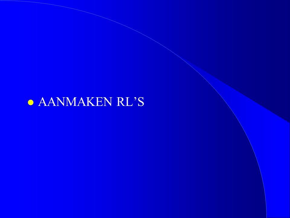 l AANMAKEN RL'S