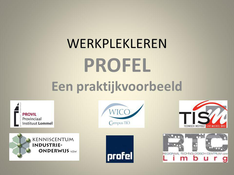 WERKPLEKLEREN PROFEL Samenwerking PROFEL –TIO –PROVIL resulteert in werkboeken voor PVC en ALU Opstellen van een werkboek (Model LAG & TISM --- standaard vzw Kenniscentrum Industrie-onderwijs)