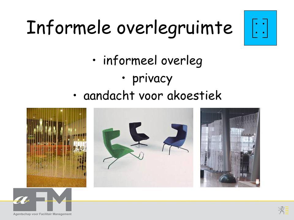 Informele overlegruimte informeel overleg privacy aandacht voor akoestiek