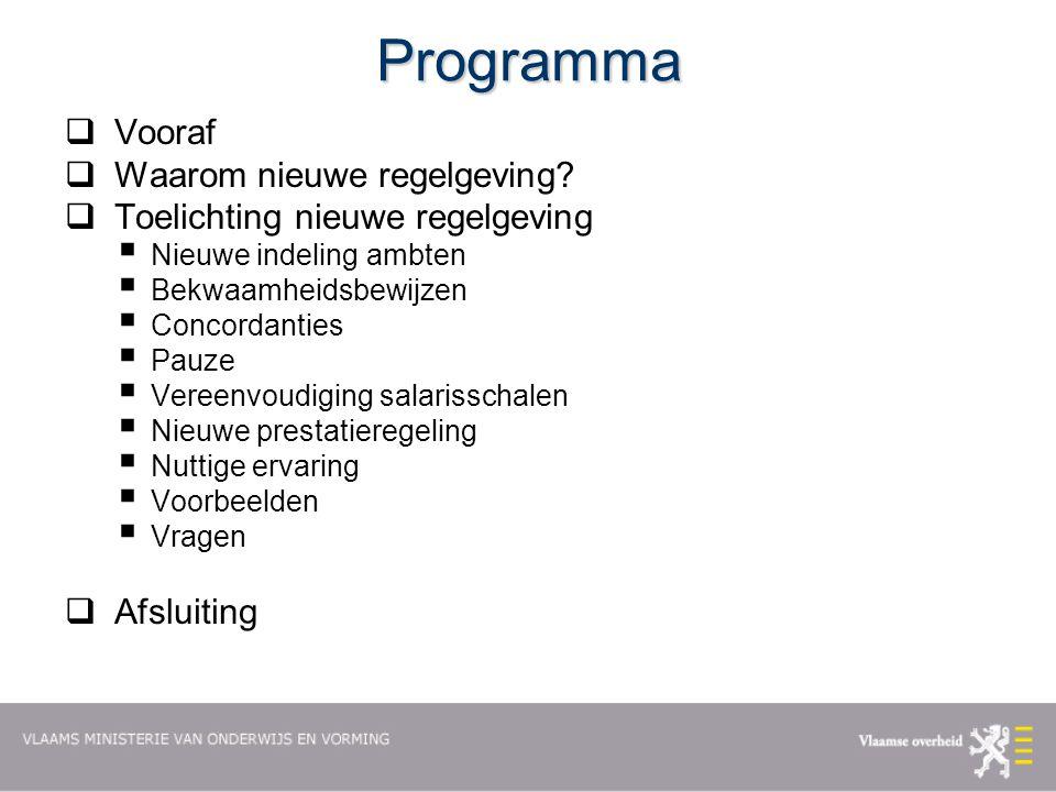 Programma  Vooraf  Waarom nieuwe regelgeving.