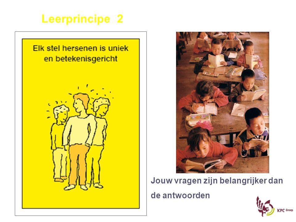 Leerprincipe 2 Jouw vragen zijn belangrijker dan de antwoorden