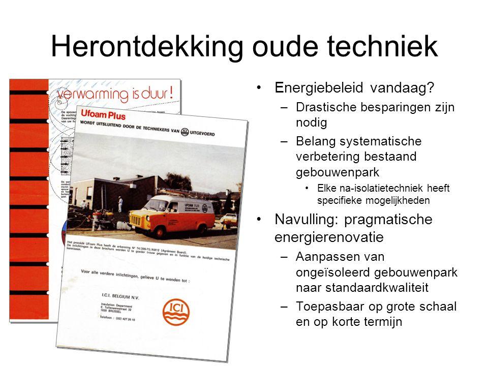 Herontdekking oude techniek Energiebeleid vandaag.