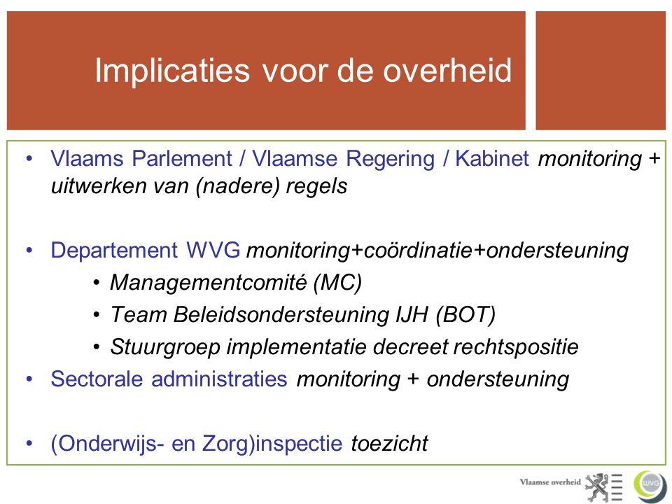 c) Sectorale administraties –Ondersteunen implementatie decreet rechtspositie IVA Zorg en Gezondheid: rondzendbrief m.b.t.