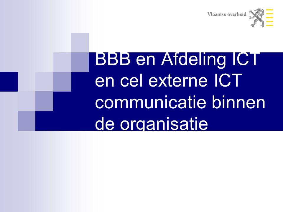 BBB en Afdeling ICT en cel externe ICT communicatie binnen de organisatie