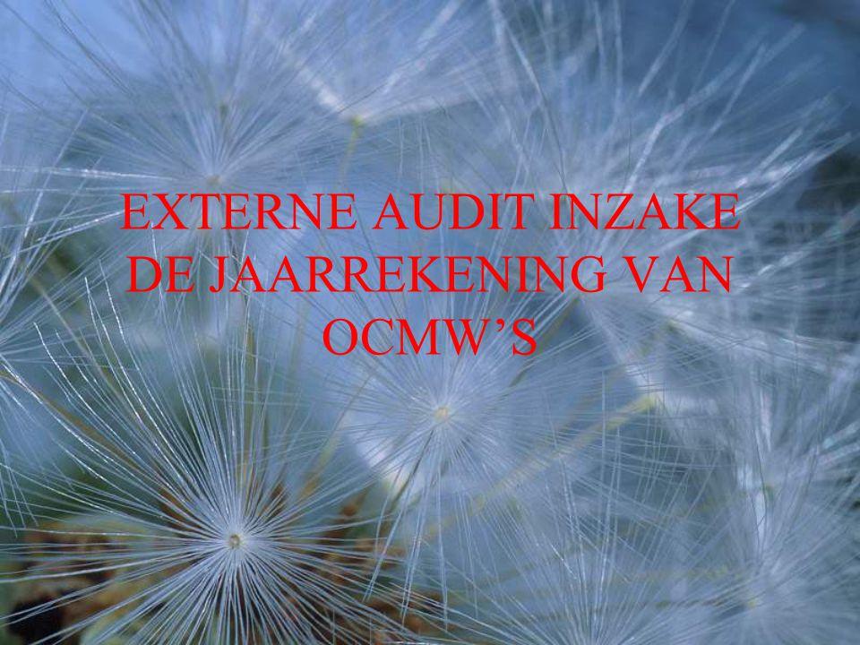 8VERSLAGGEVING 1Werkpapieren en auditdossier 2 Auditmemo's 3 Auditverslag 4 Management letter en technische nota