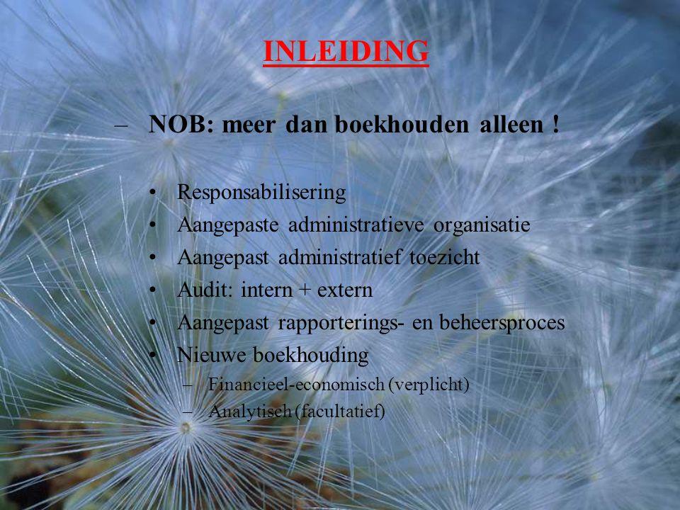 INLEIDING –NOB: meer dan boekhouden alleen .