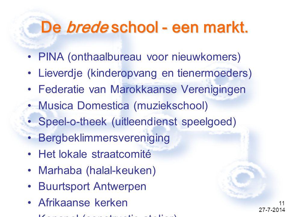 27-7-2014 11 De brede school - een markt.