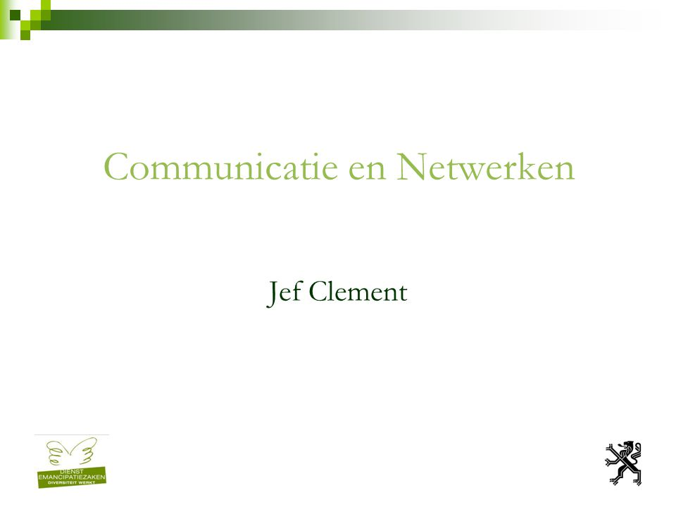 Jef Clement Communicatie en Netwerken